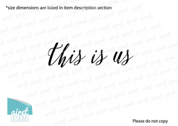 This is Us - Vinyl Decal Wall Art Decor Sticker - Photo Gallery Story Wall Home Decor House Living Family Entry Hall Decoration v6