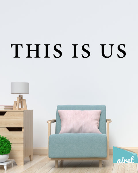 This is Us - Vinyl Decal Wall Art Decor Sticker - Photo Gallery Story Wall Home Decor House Living Family Entry Hall Decoration v10