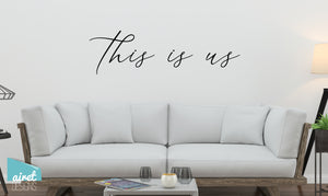 This is Us - Vinyl Decal Wall Art Decor Sticker - Photo Gallery Story Wall Home Decor House Living Family Entry Hall Decoration v3