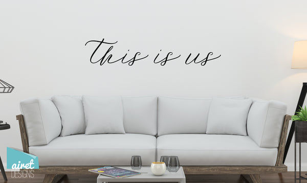 This is Us - Vinyl Decal Wall Art Decor Sticker - Photo Gallery Story Wall Home Decor House Living Family Entry Hall Decoration v9