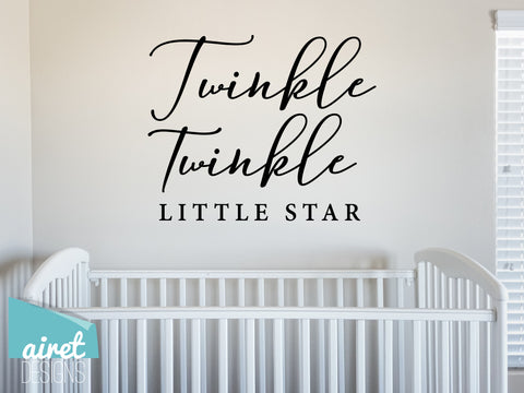 Twinkle Twinkle Little Star - Vinyl Decal Children's Playroom Room Toddler Babies Wall Decor Sticker Sign v2