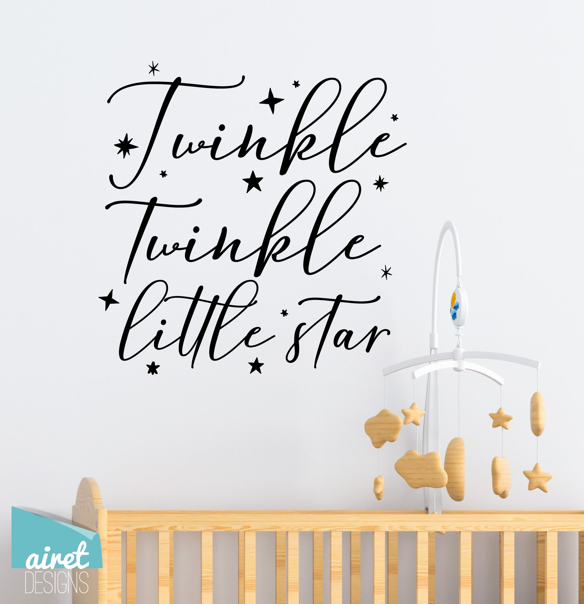 Twinkle Twinkle Little Star - Vinyl Decal Children's Playroom Room Toddler Babies Wall Decor Sticker Sign v3