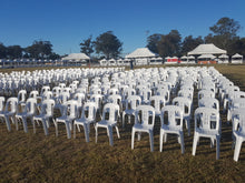 White Plastic Chairs (each)