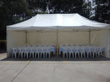 POP UP Marquee with White PVC Roof  8M X 12M