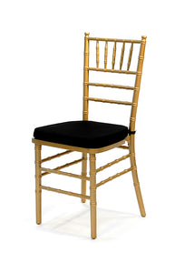 Golden Frame Tiffany Chairs with Cushion (each)