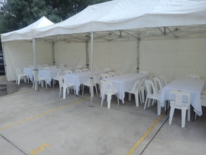 POP UP Marquee with White PVC Roof  3M X 9M