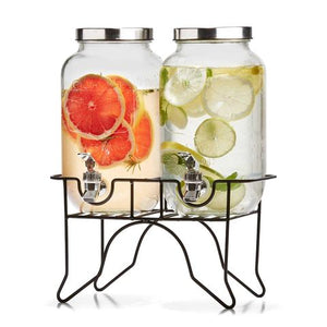 Twin Drink Dispenser with Stand - 3.5 litre