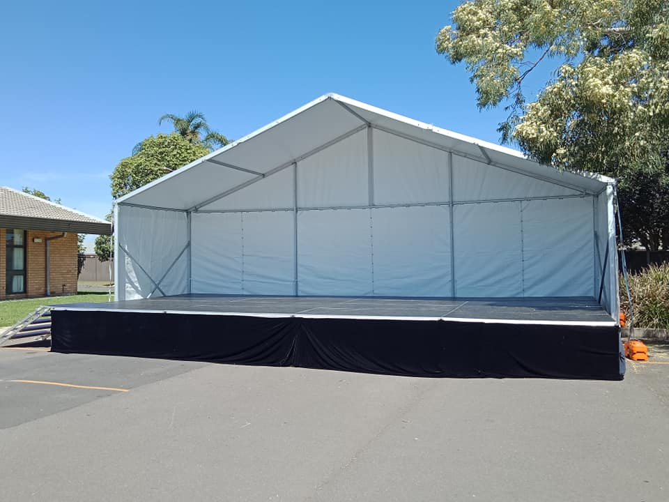 10mx3m Marquee Cover for Outdoor Stage