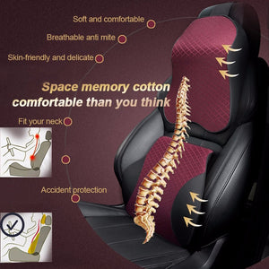 PU Leather Car Seat Cushion Memory Pillow