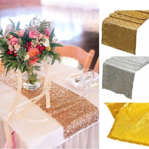 Sparkly Satin Table Runner