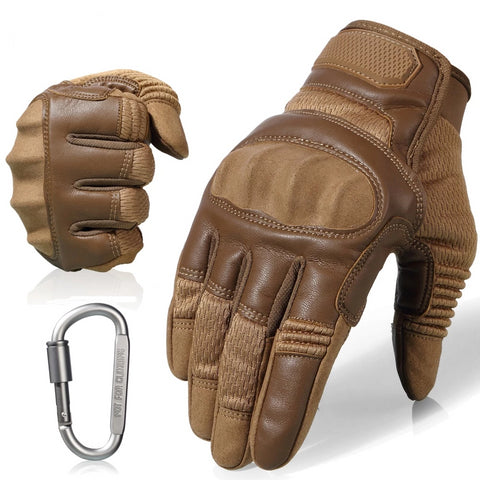 PU Leather Motorcycle Hard Gloves