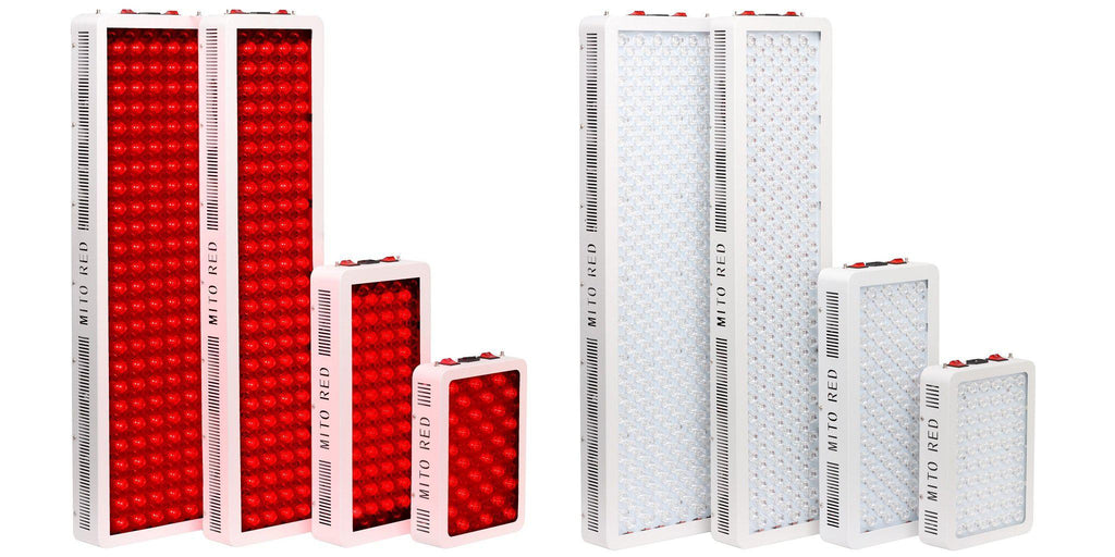 Mito Red Light Therapy Product Collection MitoMIN MitoMID MitoMAX MitoMEGA