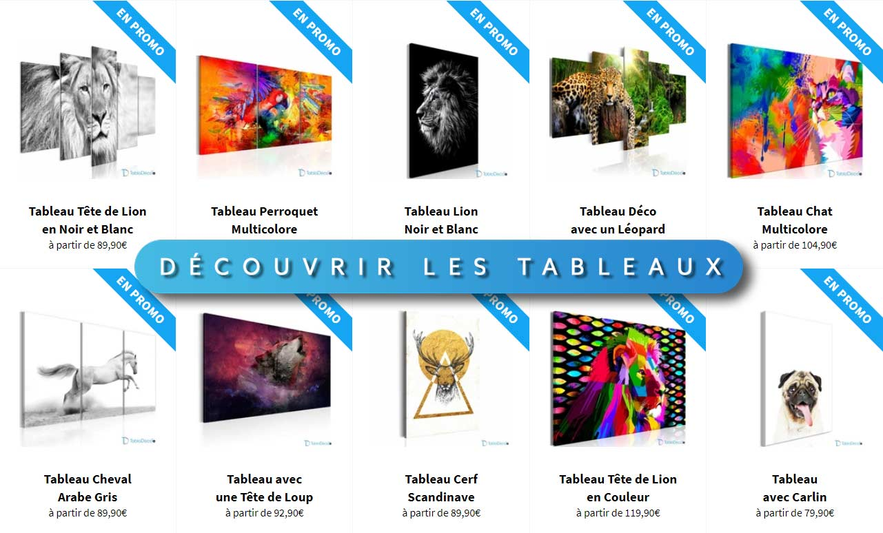 Collection Tableaux Animaux