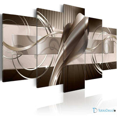 Tableau Abstrait Design Moderne Marron