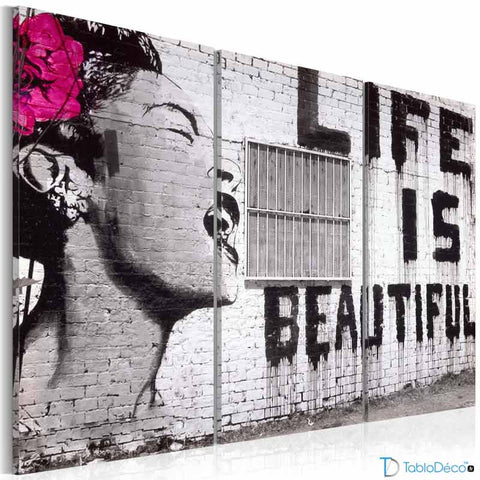 Tableau Banksy life is beautiful