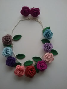 Colorful Roses  Jewelry Hashtags Gift 2019 Galeries Home Business Tiptop Royal Handmade Art by Maria Iliescu Metal Fittings - HANDMADE ART BY MARIA ILIESCU