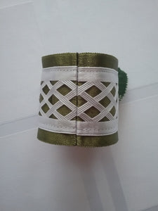 Alma Napkin Ring Green and White My Favorite Table Setting Canadian's Ultimate Style Handmade Art by Maria Iliescu New and Now - HANDMADE ART BY MARIA ILIESCU