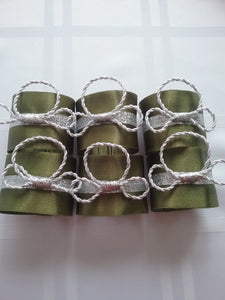 Anastasia Napkin Ring Greenery and Silver New and Now Power your Table Hot Ideas Fashionable Design Canada 's Style Handmade Art by Maria Iliescu - HANDMADE ART BY MARIA ILIESCU