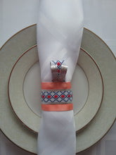 Load image into Gallery viewer, Rebecca Napkin Ring Woven Traditional Style Artwork Forever Dinner Dress Artful Effect for Table Handmade Art by Maria Iliescu - HANDMADE ART BY MARIA ILIESCU