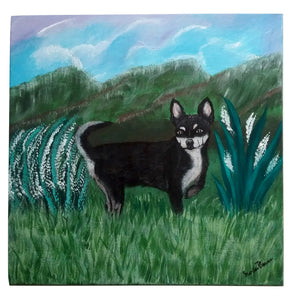 Linda Chihuahua Dog Animal Acrylic Painting Cute Friendly Playful Smart Dog Handmade Art by Maria Iliescu - HANDMADE ART BY MARIA ILIESCU