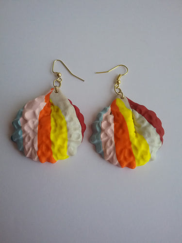 Anna Earrings Colorful Jewelry Magic gift Fashion Coloring Casual Delightful Picks Stylish Looks Sweets for your Sweet Handmade Art by Maria Iliescu - HANDMADE ART BY MARIA ILIESCU