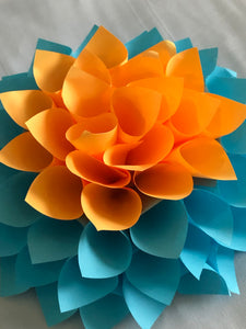 Paper Flower Creation Design Banner Colorful Catch the Eye