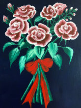 Load image into Gallery viewer, Romantic Roses Smell the Roses Style at Home Acrylic Canvas Painting  Handmade Art by Maria Iliescu Wall Art - HANDMADE ART BY MARIA ILIESCU