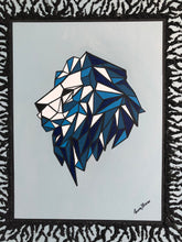 Load image into Gallery viewer, Geometric Lion Acrylic Painting Wild Animal Figure Wonderful Style Handmade Art by Maria Iliescu - HANDMADE ART BY MARIA ILIESCU
