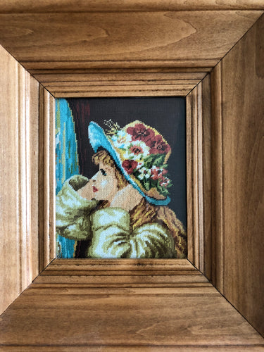 Girl with Hat Goblin Art Gallery Art Wall Design Marvelous Art Handmade Art by Maria Iliescu