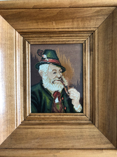 Grandfather with Smoke Pipe Goblin Wall Decor Goblin Concept Gallery Art Promo Studio Goblin Artwork Handmade Art by Maria Iliescu