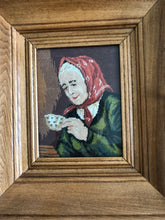 Load image into Gallery viewer, Grandmother with Coffee Goblin Pixel Art Artist Goblin Artisans Canadian Art Treasure Goblin Art Handmade Art by Maria Iliescu