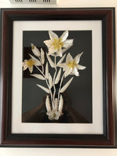 Load image into Gallery viewer, Lily Flowers Fish Bones Handmade Art By Maria Iliescu Sculpture Design Wall Decor Canadian Style Framed Art Collection Artwork Home Decoration - HANDMADE ART BY MARIA ILIESCU