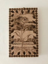 Load image into Gallery viewer, Rose Wood Burning Art Rustic Decor Handcrafted Wood Flower Art Handmade Art by Maria Iliescu