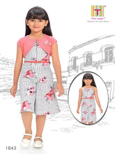 Load image into Gallery viewer, Checks pattern Pink Coloured Jumpsuit - 1843-Peach - TINY BABY INDIA