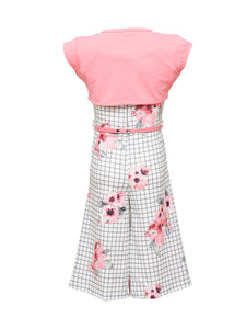 Checks pattern Pink Coloured Jumpsuit