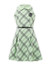 Load image into Gallery viewer, Diagonal Checks pattern Pista Green Dress - 1858-Green - TINY BABY INDIA
