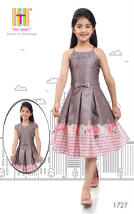 Tiny Baby Pink Coloured Dress - 1727-Pink - TINY BABY INDIA