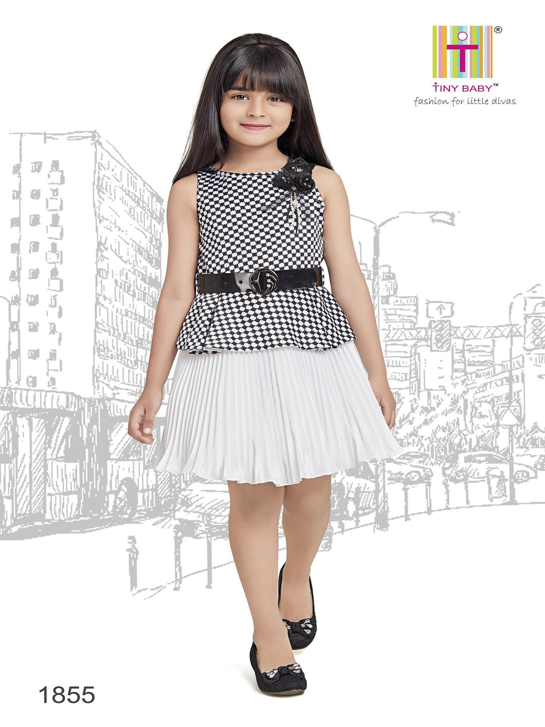 Tiny Baby Black Colored Dress - 1855 Black