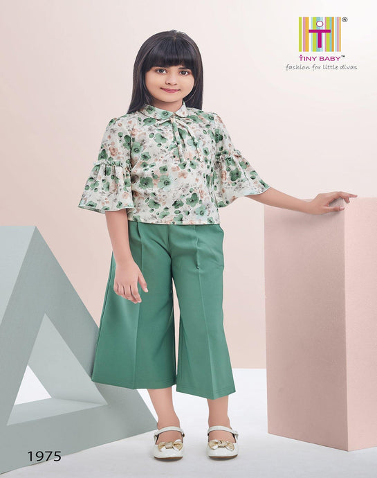 Tiny Baby Green Colored Culottes