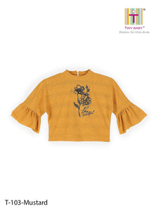 Tiny Baby Mustard Colored Top - TINY BABY INDIA