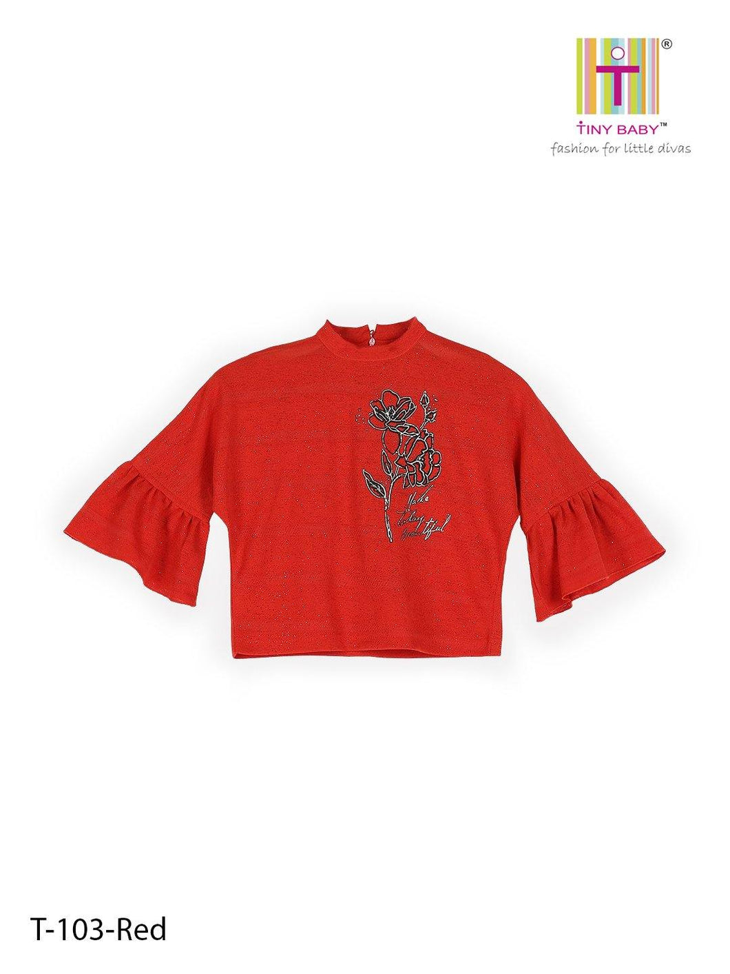 Tiny Baby Red Colored Top - TINY BABY INDIA