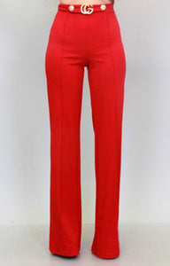 Amour Red Pants