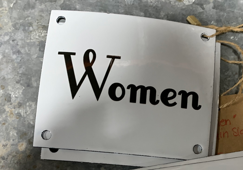 Enamel Signs-Women