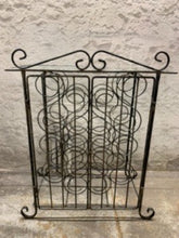 Load image into Gallery viewer, Wrought iron wine rack