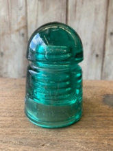 Load image into Gallery viewer, Vintage Green Glass Insulators