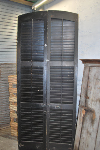 Black Arched shutters