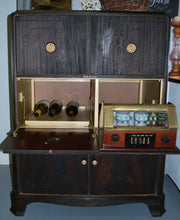 Load image into Gallery viewer, 1900's RCA Victor tv/radio/phono bar/coffee cabinet