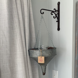 Galvanized Metal Funnel Planter