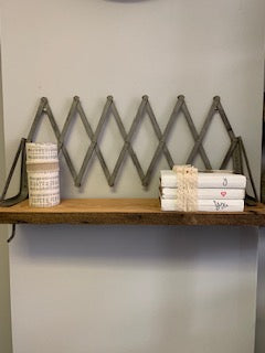 Vintage luggage rack shelf