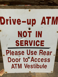 drive up ATM sign
